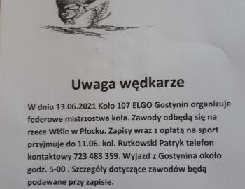 Zawody Feederowe Koła Elgo 107 w Gostyninie